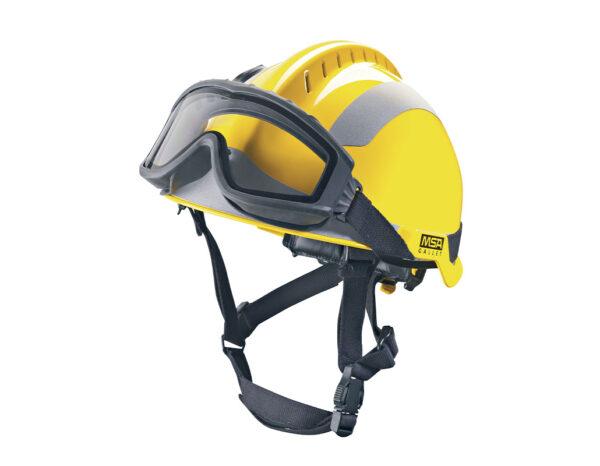 MSA F2 X-Trem Fire Safety Helmet Yellow