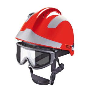 MSA F2 X-Trem Fire Safety Helmet Fluorescent Orange